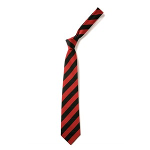 Broad Stripe Tie - Black & Red