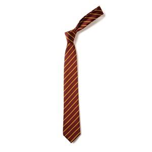 Thin Stripe Tie - Maroon & Gold