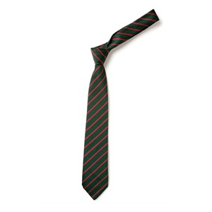 Thin Stripe Tie - Green & Red