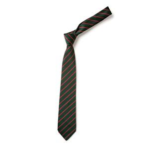 Thin Stripe Tie - Green & Red