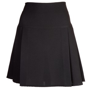 Triple Pleat Polyester Fitted Skirt