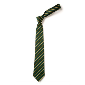 Thin Stripe Tie - Green & Gold