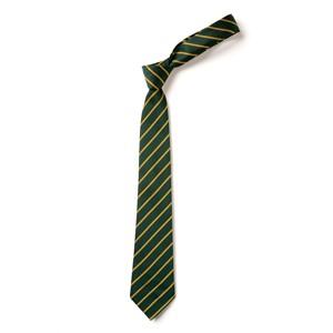 Thin Stripe Tie - Green & Gold