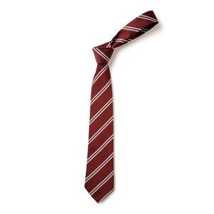 Double Stripe Tie - Maroon & White