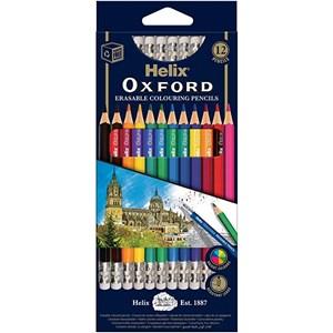 Helix Oxford Erasable Colouring Pencils x 12