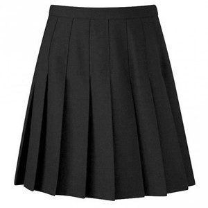 Davenport Knife Pleated Fitted Skirt