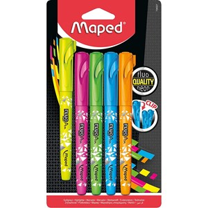 Fluo Peps Connect Neon Highlighter Pens (5 Pack)