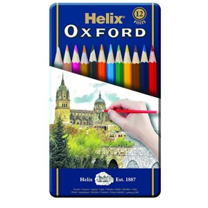 Oxford Coloured Pencils x12 Tin