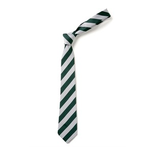 Broad Stripe Tie - Green & White