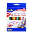 Helix 12 Standard Colouring Pencils 3.5""