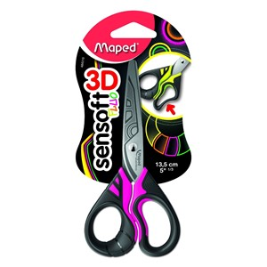 Maped Sensoft Fluo Scissors 13.5cm (Assorted Colours)