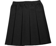 Box Pleat Elastic Skirt
