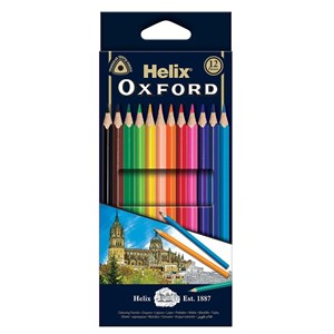Helix Oxford Colouring Pencils  x 12