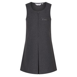 Pinafore - Zip with Floral Embroidery