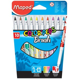 Felt Pen Brush Colour Peps x10 848010