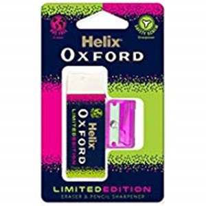 Helix Oxford Clash Eraser & Pencil Sharpener