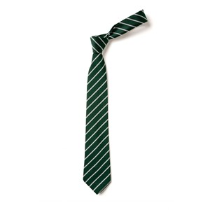 Thin Stripe Tie - Green & White