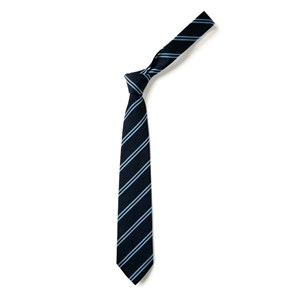 Tie Double Stripe - Black & Sky