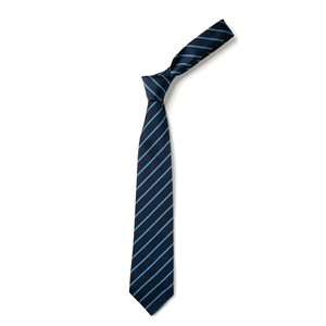 Thin Stripe Tie - Navy & Saxe