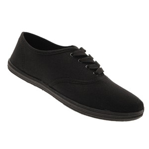 Black Lace Plimsolls