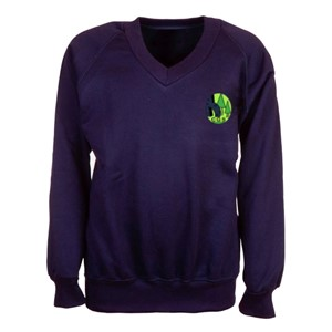 Sweatshirt V-Neck Cricket Green