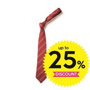 Tie Double Stripe - Red & Grey