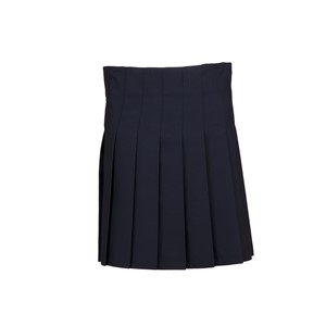 Stitch Down Box Pleat Fitted Skirt
