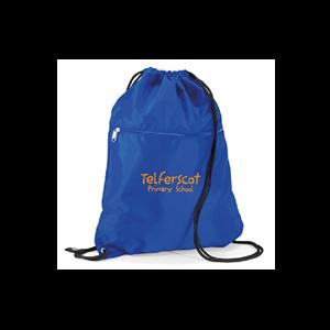 Drawstring bag with a Zip Telferscot