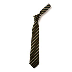 Thin Stripe Tie - Navy & Gold