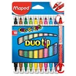 Color Peps Duo Tip Felt Pens (Pack of 10)