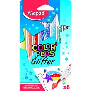 Maped Color Peps Glitter Felt Tip Pens
