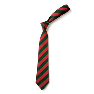 Broad Stripe Tie - Red & Green