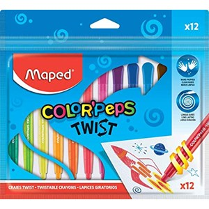 Maped Color Peps Twist Colouring Crayons (Pack of 12)