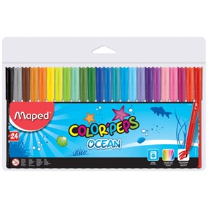Maped Color Peps Ocean Felt Pens (Pack of 24)