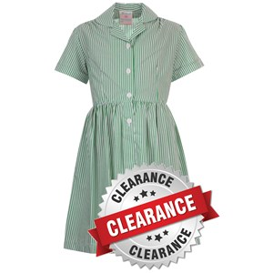 Summer Dresses - Traditional Green Striped