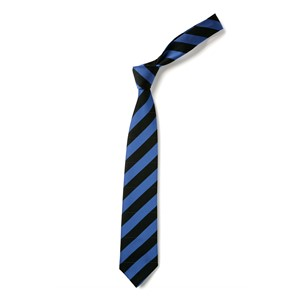 Broad Stripe Tie - Black & Royal