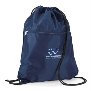 Drawstring Bag with Zip & Name Woodmansterne Secondary
