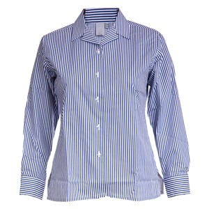 Blouses - Non Iron - Striped - Long Sleeve Revere Collar - Twin Pack