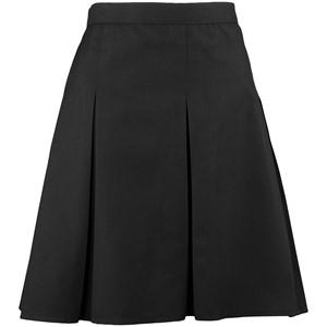 Stitch Down Triple Pleat Elastic Skirt Front