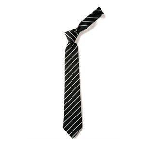 Thin Stripe Tie - Black & White