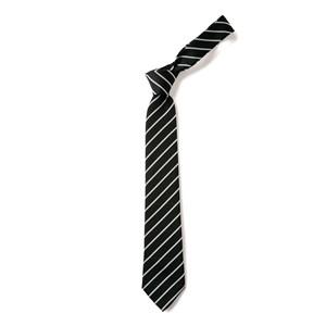 Thin Stripe Tie - Black & White