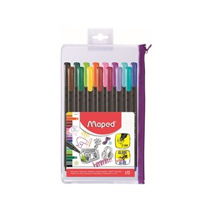 Maped Fine Point Graph Pens 0.4mm x 12