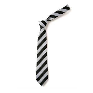 Broad Stripe Tie - Black & White