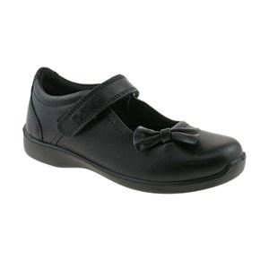 Girls Buckle My Shoe Bow Trim Shoe