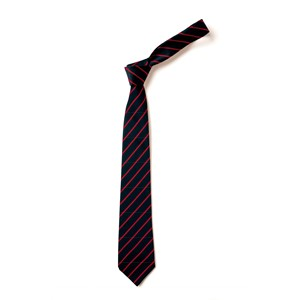 Thin Stripe Tie - Black & Red