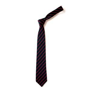 Thin Stripe Tie - Black & Red