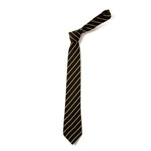 Thin Stripe Tie - Black & Gold