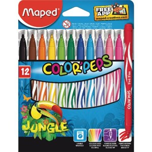 Felt Tips Colour peps Jungle x12 845420