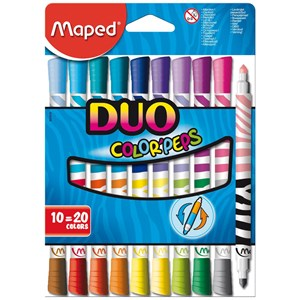 Maped Duo Color Peps Felt Tip Pens