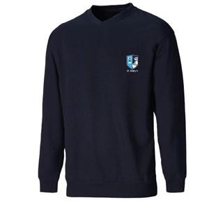Sweatshirt V-Neck St Mary's Catholic Federation (MADE TO ORDER)